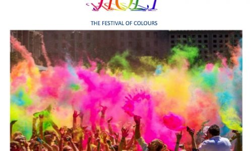 Holi in India:  two day festival