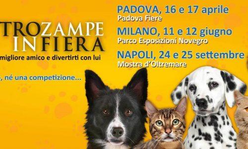 Padova 16  e  17  aprile 2016 –  QUATTRO  ZAMPE  IN  FIERA