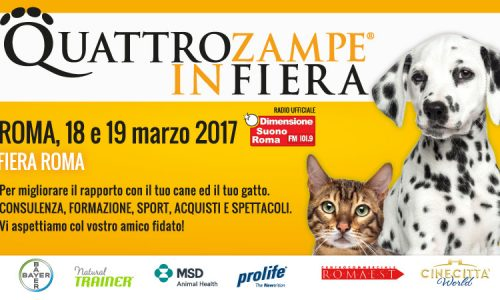 Quattrozampeinfiera a  Roma  sabato 18 e domenica 19 marzo
