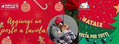"""A Natale, """"Aggiungi un posto a tavola"""": Animalisti Italiani sostiene il progetto della Comunità di Sant'Egidio"""