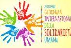 Domenica 20 dicembre Giornata internazionale della solidarietà umana 2020