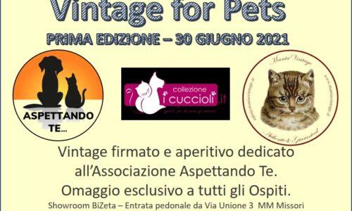 """Milano per gli animali: al via la prima edizione di """"Vintage for pets"""""""